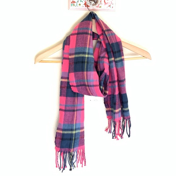DESIGNER INSPIRED STYLE New Lulu Scarf PLAID SCARF WITH FRINGES